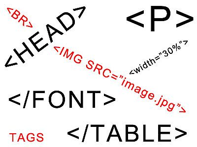 A whole bunch of html tags.