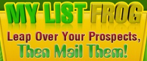My List Frog - Leap over your prospects, then mail them.