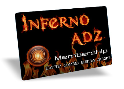 Inferno Adz membership card.