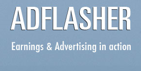 AdFlasher - Earnings and Advertising in action.
